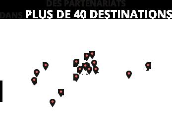 Des partenariats dans 20 pays