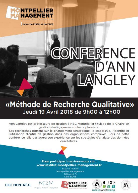 Conférence Ann Langley, HEC Montréal