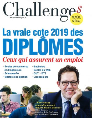 Couverture Challenge La vraie cote des diplômes 2019