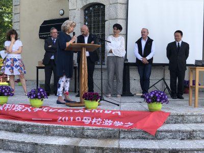 Madame Monique Lacroix à la signature officielle du MoU - Montpellier Management