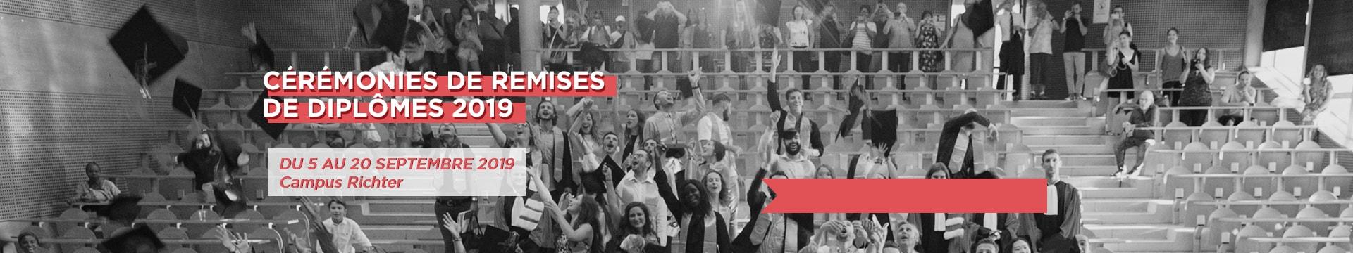 Cérémonies de remises de diplômes 2019 - Montpellier Management