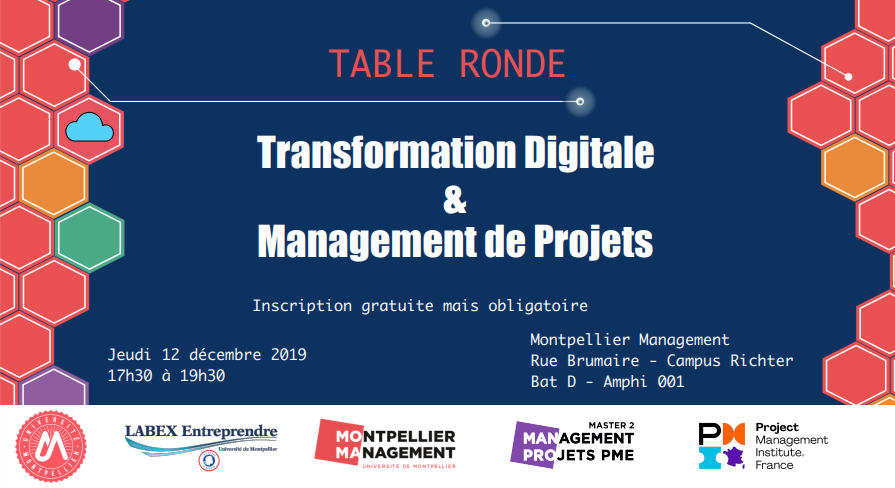 Table ronde : Transformation digitale & Management de projets - Montpellier Management