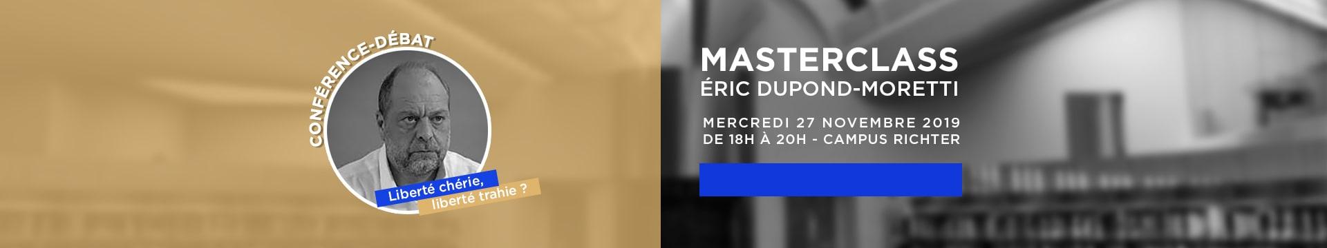 Masterclass Eric Dupond-Moretti La Tribune - Montpellier Management