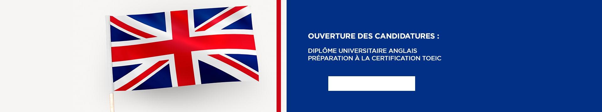 Ouverture candidatures : DU Anglais Préparation à la certification TOEIC - Montpellier Management