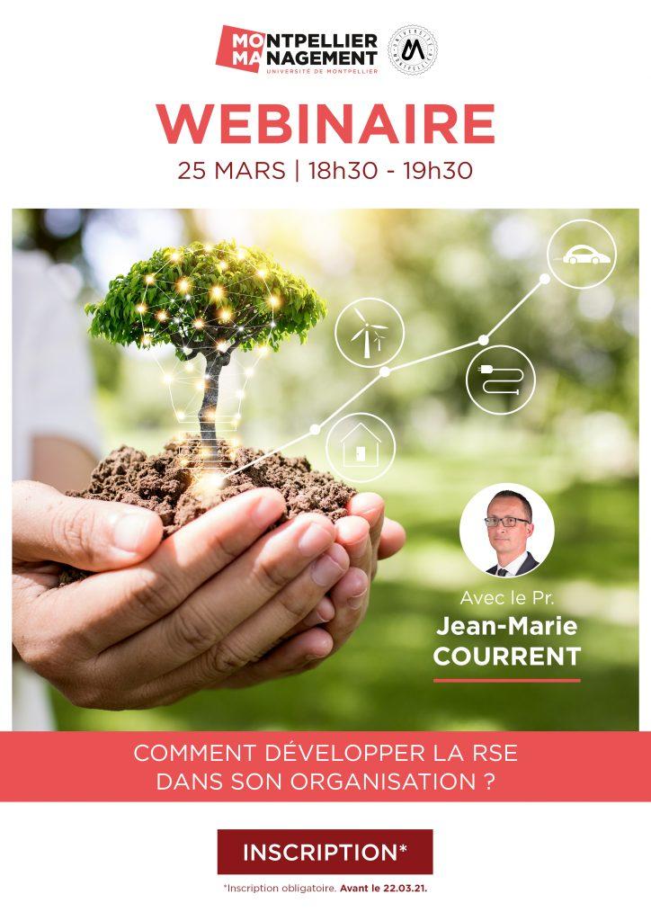 Webinaire : Comment développer la RSE dans son organisation ? - Montpellier Management