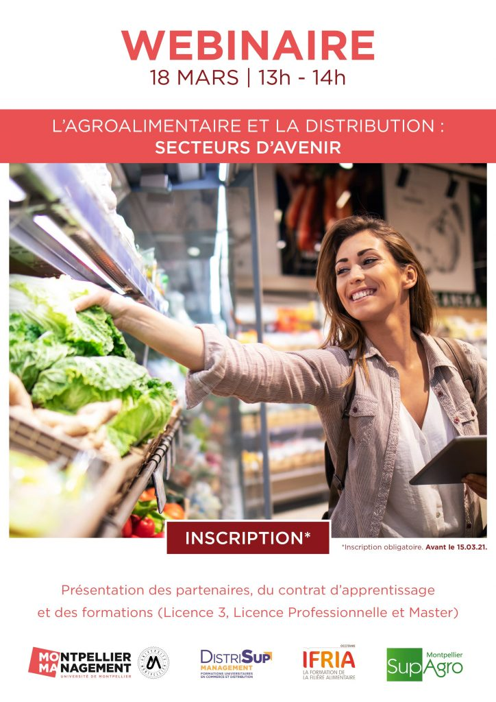 Webinaire Agroalimentaire et distribution : secteurs d'avenir - Montpellier Management