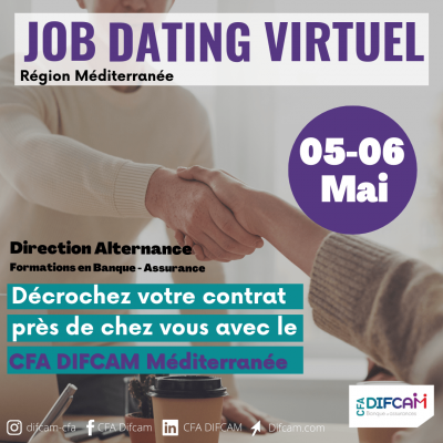 Job dating virtuel DIFCAM 5 et 6 mai - Montpellier Management