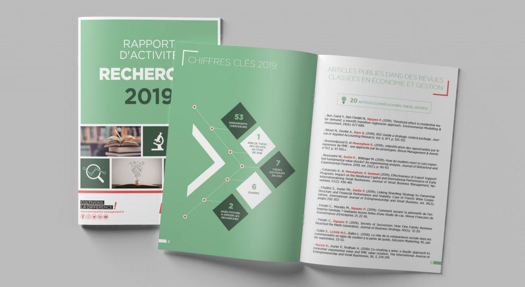 Rapport d'activité de la recherche 2019 - Montpellier Management